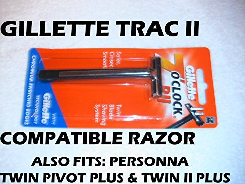 Trac II Razor (Compatible) (Handle Replacement Razor)