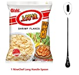 DD2 Chinese Special Snack Food: Shang Hao Jia Qin Qin Crisps (2 packs) (Prawn crackers 鲜虾片, 80 g * 2 packs)