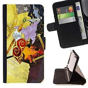 Momo Phone Case / Flip Funda de Cuero Case Cover - Fantasía Patrón;;;;;;;; - Samsung Galaxy S4 IV I9500