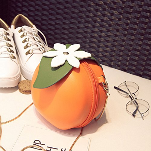 Bag Cross Clutch Fruit Body Purse Women Leather Shaped TOOGOO Pu Orange B8CvCwq