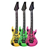 1 x Inflatable Blow Up Guitars Fancy Dress Party Prop Musical Disco Rock Prop