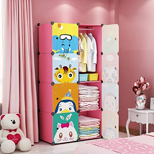 MAGINELS Children Wardrobe Kid Dresser Cute Baby Portable for sale  Delivered anywhere in USA