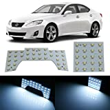 iJDMTOY 56-SMD 2-Piece Vehicle Specific Exact Fit Full LED Interior Light Package For Lexus IS250 IS350 IS-F, Xenon White