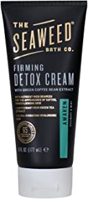 The Seaweed Bath Co. Detox Cellulite Cream/Firming Detox Cream, Awaken Scent, Rosemary & Mint, 6 oz. (Packaging May Vary)