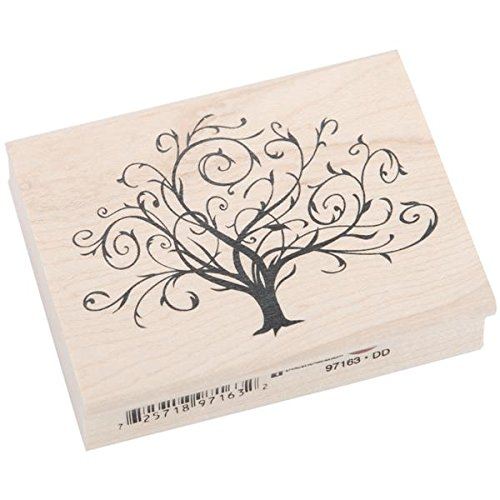 Image Tree Stamp (Inkadinkado Wood Stamp, Flourished Fall Tree)