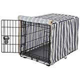 You&Me Striped Dog Crate Cover, 31'', Medium
