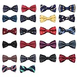 TATGB New School Boys Children Baby Bow Wedding Striped Colour Tie Necktie 22PC