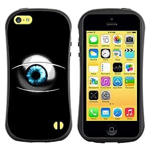 Paccase / Suave TPU GEL Caso Carcasa de Protección Funda para - Sci Fi Blue Eye - Apple Iphone 5C