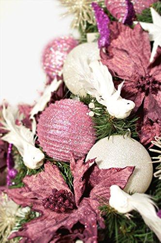 DecoKing Albero di Natale 220 cm Artificiale Abete di Decorazione Base Plastica Festa di Natale Verde Lena 5 spesavip