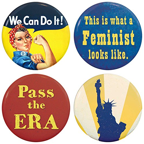 Buttonsmith Feminist Refrigerator Riveter Liberty product image