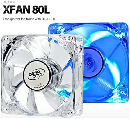 DeepCool XFan 80L - XFAN80L - Ventilador de Caja con LED Azul ...