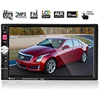 Double DIN Car Stereo Audio MP5 Player 7 Inches Bluetooth Car Stereo Audio MP5 Player Support Hands-free Calls and Across Two Cellphones Touch Screen Car Stereo Support USB/U Disk/TF Card/FM Radio
