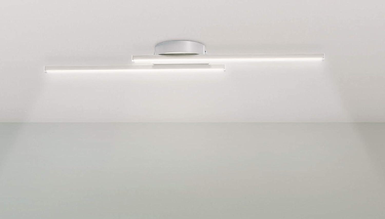 Trango Design moderno Plafoniera a LED / applique da bagno / applique TG3158 inclusa 2x modulo LED 3000K bianco caldo direttamente 230V [Classe di efficienza energetica A+]