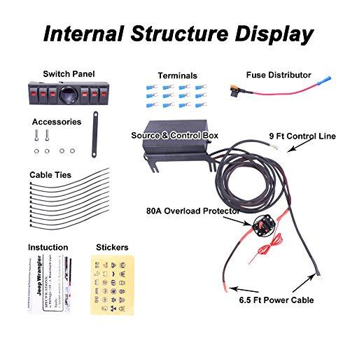 liteway overhead 6 rocker switch pod panel wiring kit. Black Bedroom Furniture Sets. Home Design Ideas