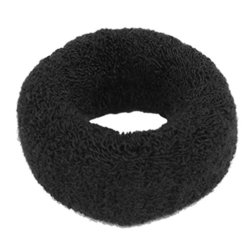 JASSINS Hairstyling Black Terry Ponytail Holder 1.6