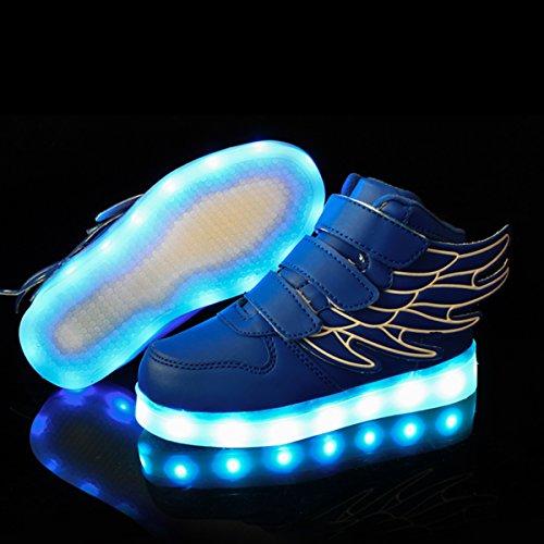 bambini Sneakers con da Scarpe DoGeek Donna Luminose Scarpe Scarpe Che Scarpe Luci Scarpe Sportiva Scarpa la LED Tennis Ginnastica Nero Illuminano Bambino R7wqEU