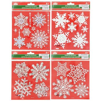 Amazoncom Christmas House Snowflake Window Stickers Set Of - Snowflake window stickers amazon