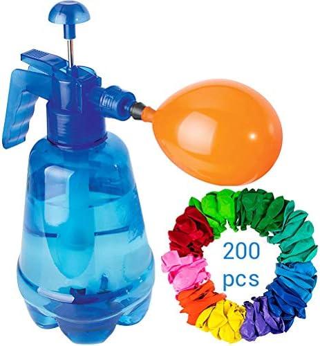 Crabitin 水風船 ポンプ付きセット 水爆弾 200個 水遊び 大量 子供 大人 夏祭り イベント用品 ウォーターゲーム お誕生日 夏定番 プレゼント