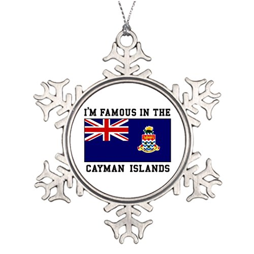 Butter Tisse Personalised Christmas Tree Decoration I.m Famous In Cayman Islands Cool Snowflake Ornaments