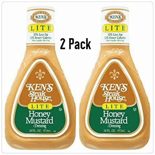 Ken's Steak House Honey Mustard Lite Dressing 16 Oz. (Pack of ()