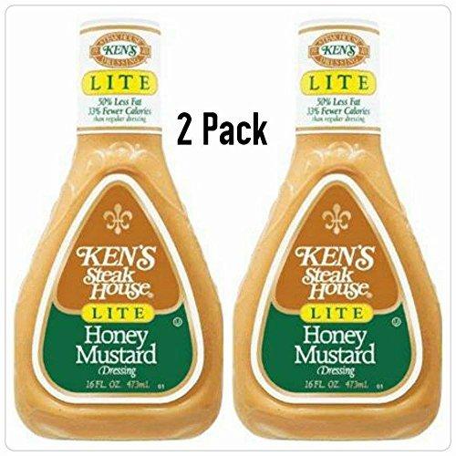 Ken's Steak House Honey Mustard Lite Dressing 16 Oz. (Pack of (Honey Mustard Dressing)