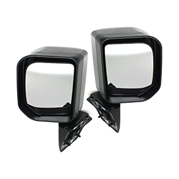 Kool Vue Set of 2 Mirror Manual Remote for 84-96 Jeep Cherokee Left /& Right