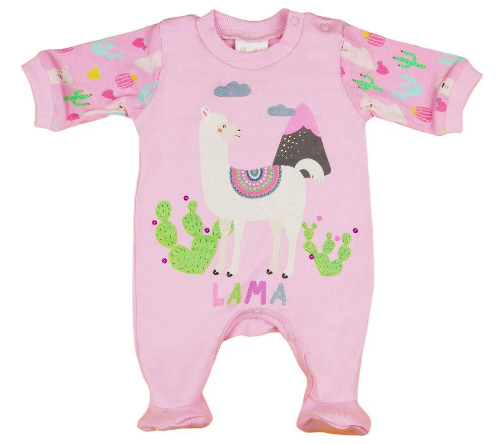 Baby-Body mit Tom und Jerry in Gr/ö/ße 56 62 68 74 80 86 100/% Baumwolle Einteiler Langarm Baby-Overall Wei/ß und Rosa Kleines Kleid M/ädchen