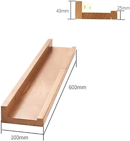 ZM&Baldas Flotantes Mampara De Madera Maciza Estante De Almacenamiento En Estantería De Pared Creativo Simple Y Elegante Decoración De Sala De Estar De Dormitorio Familiar (Size : 100x600mm): Amazon.es: Hogar