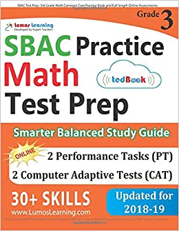 SBAC Test Prep: 3rd Grade Math Common Core Practice Book and Full ...