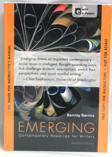 Emerging Contemporary Readings For Writers (Instructors Edition)