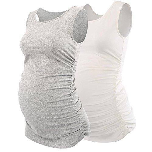 Top Vita Donna Camomilla Top Maternit in Avvolto Rotondo Maternity Cotone ZUMIY Gravidanza z5gntqv1