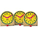 Frank Schaffer Original Mini Clocks, Wood - 12 Per Package