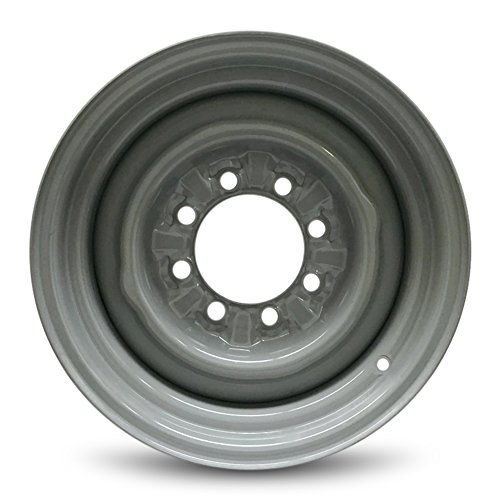 Road Ready Car Wheel For 1992-1997 Ford F350 2003-2014 Ford E150 Ford E250 2004-2014 Ford E350SD 2000-2003 Ford E450 16 Inch 8 Lug Gray Steel Rim Fits R16 Tire - Exact OEM Replacement - Full-Size Spar