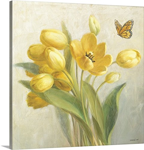 Danhui Nai - Canvas Wall Art Print Yellow French Tulips
