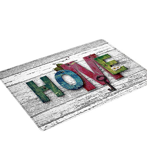 Carpet Hallway Doormat Anti - Flannel Print Slip Carpet Absorb Water Kitchen Mat Beautifully Decorated Rug,Make The Ground Look Better and - Flannel Print Great Outdoors