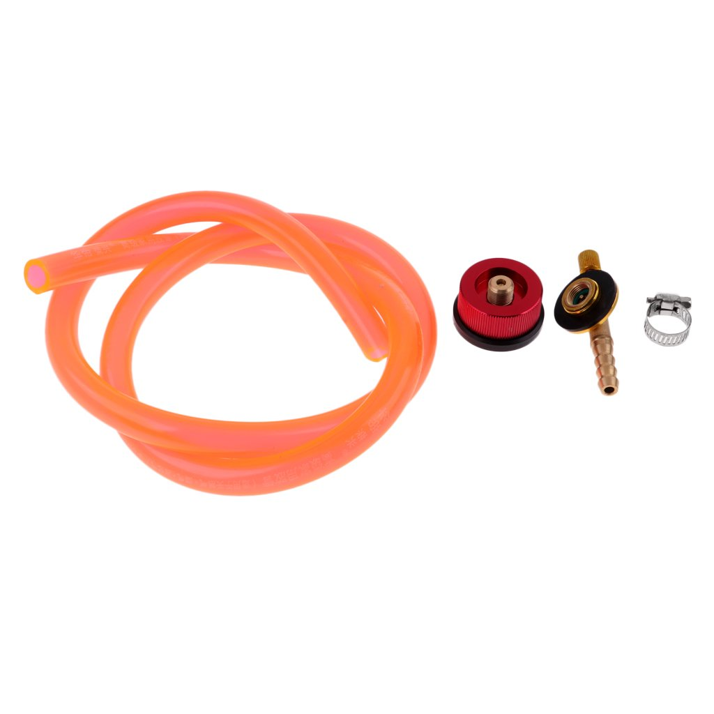 Homyl Outdoor Camping Gas Stove Tank Propane Refill Adapter Burner Coupler Bottle Cylinder Hose Connects Conversion Line