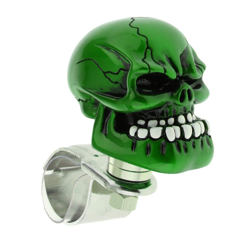 1PC Skull Head Car Steering Wheel Spinner Suicide Knob Handle Booster Blue