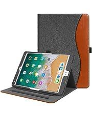 """Fintie, hoes voor iPad Air 10.5"""" 2019 (3de generatie) / iPad Pro 10.5 """"2017 - [hoekbescherming] multi-hoekbescherming foliostandaard beschermhoes met documentgleuven, Auto Sleep/Wake Jeansoptik dunkelgrau"""
