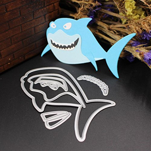 Cutting Dies For Scrapbooking, Mikey Store New Marine Life Metal Cutting Dies Handmade DIY Stencils Scrapbooking Album Paper Card Craft (Shark)