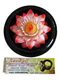 Jittasil Thai Hand-Carved Soap Flower, 4 Inch Scented Soap Carving Gift-Set, Pink Lotus In Decorative Wood Case