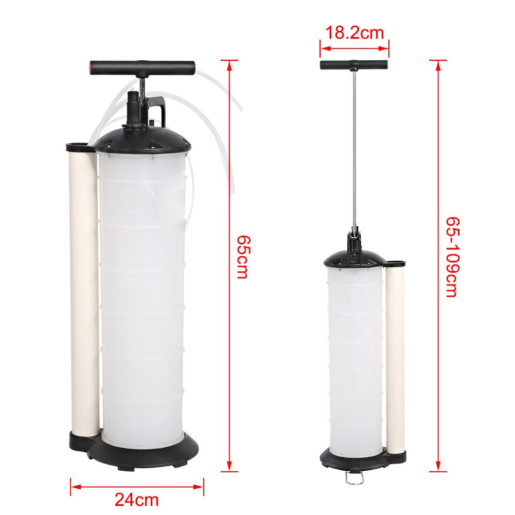 70-170PSI MINUS ONE 7L /Ölabsaugpumpe Handpumpe Fl/üssigkeitsabsaugpumpe Absaugpumpe Manuelle /Ölabsauger mit 4 Schl/äuchen