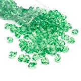 Acrylic Gems Ice Crystal Rocks for Vase Fillers, Party Table Scatter, Wedding, Photography, Party Decoration, Crafts by Royal Imports, 3 LBS (Approx 580-600 gems) - Green