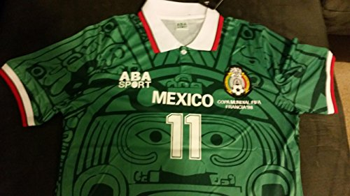 Blanco #11 Mexico 1998 Retro World Cup Jersey Size XL