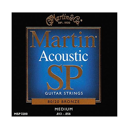 /20 Bronze Acoustic Guitar Strings, Medium (Martin Bronze Strings)