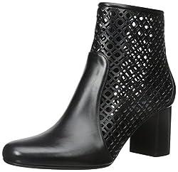 Aquatalia Women's Enid Anil Calf Boot, Black, 6 M US