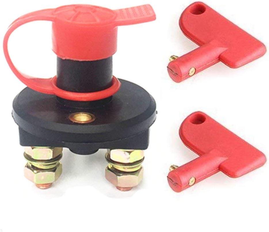 ZHAN Chen Batterieschalter batteriehauptschalter KFZ Auto Stromschalter Isolator Trennen batterie-trennschalter mit wasserdicht Geh/äuse und 2 Schl/üsseln