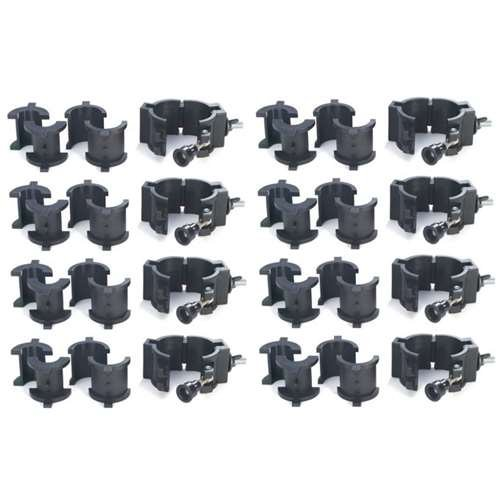 Chauvet 360° Wrap Around O-Clamps Truss Light Mounting - 75 lb Capacity (8 Pack) by Chauvet