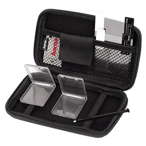 Hama 8in1-Zubehör-Set für Nintendo New 3DS, (inkl. Tasche, Schutzfolien, Stift, Game Cases), schwarz