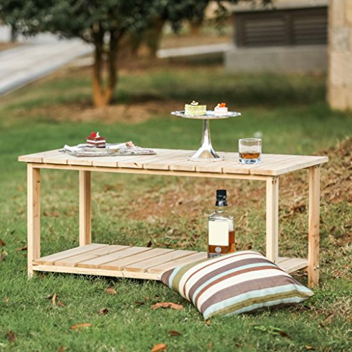 Wensltd Clearance Outdoor Furniture Living Fir Wood Coffee Table for Patio, Yard, Deck, Outdoor, ...