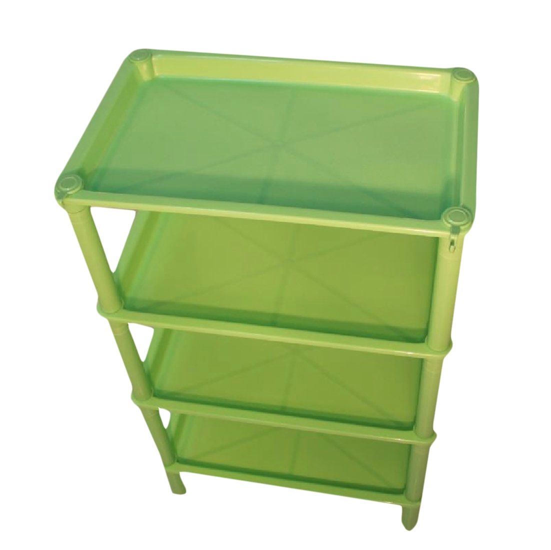 Tootless Shelving Unit Wire Storage Modular Supreme 4 Tier Purpose Wheels Bookcase AS3 4 shelves